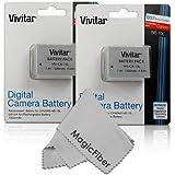 (2 Pack) Vivitar NB-10L Ultra High Capacity Batteries for CANON PowerShot SX40 HS SX40HS, SX50 HS SX50HS, G1 X G1X, Powershot G15, PowerShot G16 Digital Cameras