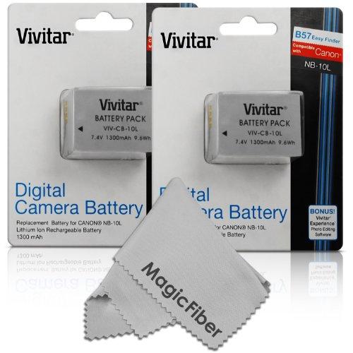 Vivitar NB-10L Ultra High Capacity Batteries for CANON Powe