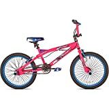 "20"" Kent Trouble Girls' Cruising Kids Bike with Sturdy Steel Frame, Pink/Blue"