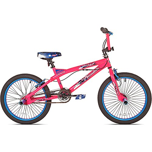 20″ Kent Trouble Girls' Cruising Kids Bike with Sturdy Steel Frame, Pink/Blue