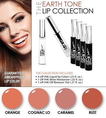 LIP INK Smearproof Vegan Earth Tone Lip Stain Collection by LIP-INK®