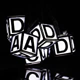Solar String Lights,Waterproof 30 LEDs Letters Outdoor Fairy Lights for Christmas Xmas Festival Party Decoration String Lighting(White)