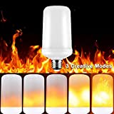 Led Flame Light Bulb, Kaseberry E26 Flickering Fire Flame Light Bulb, 99pcs 2835 LED Beads Simulated Decorative Light Atmosphere Lighting Vintage Flaming Light Bulb for Bar/Festival Decoration