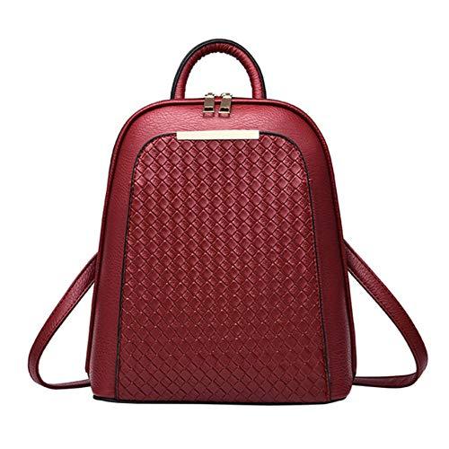 Vintage Female Tide en Meaeo Les Haute Teenage De Red Filles Backpacks Dos School Gris À Backpack Femmes Cuir pour Sac Qualité 71wqd5