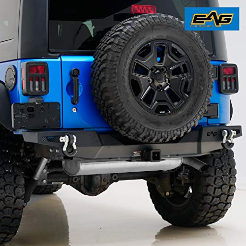 Easy Trail Load Rack (EAG 07-18 Jeep Wrangler JK Stealth Fighter Rear Bumper With Hitch Receiver)