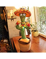 Dancing Cactus Plush Toy with 120 Songs, Talking Cactus Record Electronic Interactive Cactus Toy Home Accessories Children's Gifts (Can Sing, Record, Repeat, Dancing and Glow)