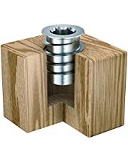"RAMPA® Made in Germany Threaded Steel Insert (50 pcs.) with hex Drive 1/4-20"" Internal Thread (d), 12mm Diameter (D) X 18mm Length (L) Works Best in All Wood Materials and substrates"