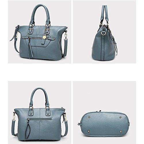 Lady bandoulière Blue Fashion rétro à main taille unique en sac Penao 33cmx17cmx25cm besace w8q7YY