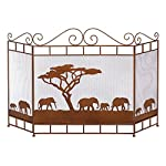 VERDUGO GIFT CO Wild Savannah Fireplace Screen by VERDUGO GIFT CO