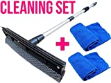 Telescopic Extendable Window Squeegee Long Handle Washer Scrubber Cleaner Wiper by ★★★ Royal ♛ Shop ★★★
