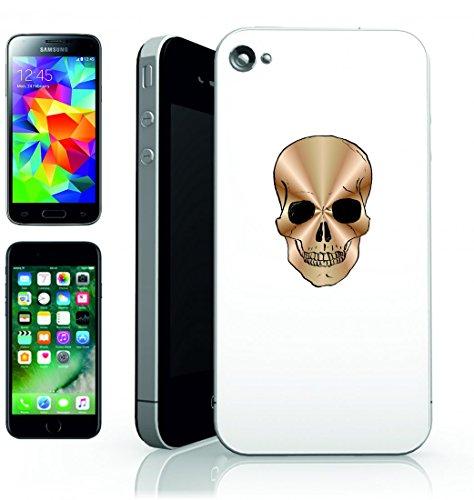 Smartphone Case teschio d oro della figura di Halloween horror per Apple Iphone 4/4S, 5/5S, 5C, 6/6S, 7& Samsung Galaxy S4, S5, S6, S6Edge, S7, S7Edge Huawei HTC–Divertimento Motiv di culto I