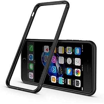 iPhone 8 Plus Case / iPhone 7 Plus Case, CASEKOO Bumper Case Aluminum Metal Frame Shockproof Flexible TPU Protective for iPhone 8 Plus (2017) / iPhone 7 Plus (2016) - Black