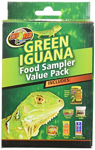 Green Iguana Food - Zoo Med Laboratories SZMFSP4 Green Iguana Food Sampler