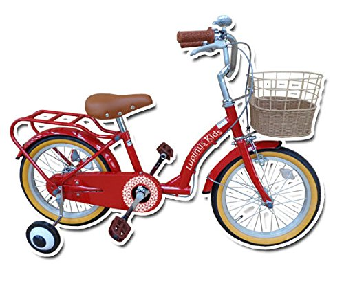Lupinusルピナス 自転車 16インチ LP-16NKN-H 子供自転車 キッズバイク 90%完成車 B01K4I3A68チェリーレッド