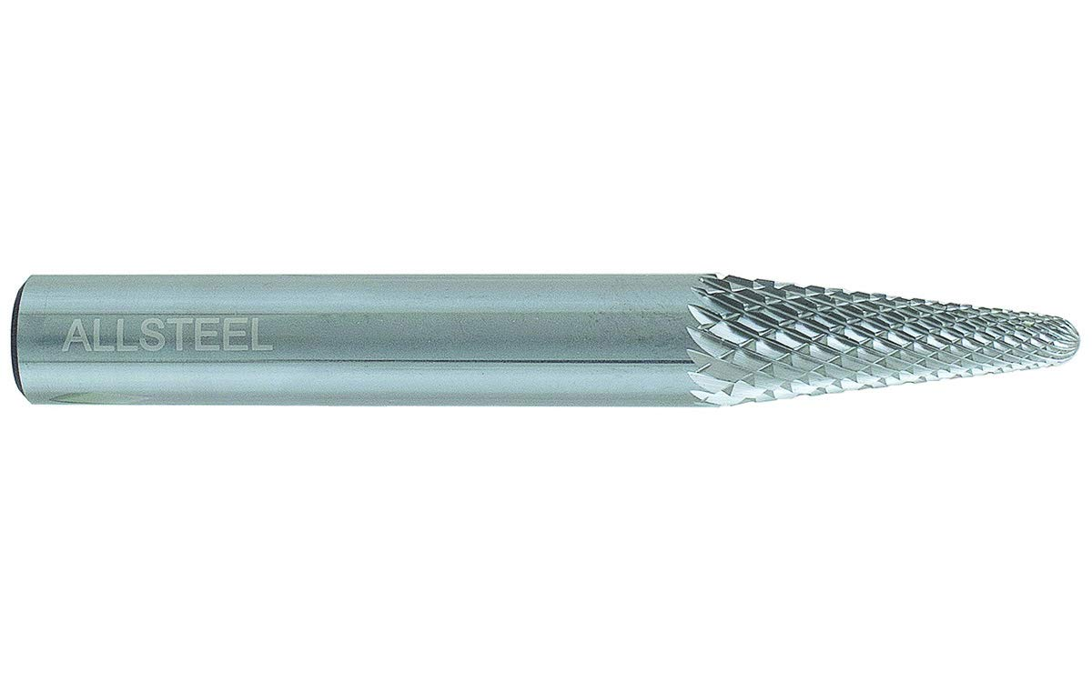 3//8 x 1-1//16 STD Lenght Pack of 1 Allsteel 01W331 SL-3 Carbide Burr