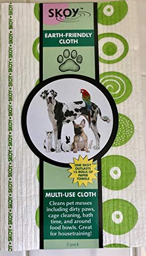 Skoy Large Swedish Dishcloth, Apple Green/White