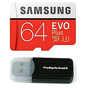 64GB Samsung Micro Plus SD XC Class 10 UHS-3 Memory Card for Samsung Galaxy Note 8, S8 Active, J7 Max, J3 Prime E5 A3 V E7 A5 Edge 4 S Duos 3 Cell Phones with Everything But Stromboli Card Reader