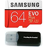 Samsung Galaxy S9 Memory Card 64GB Micro SDXC EVO Plus Class 10 UHS-1 S9 Plus, S9+, Cell Phone Smartphone with Everything But Stromboli (TM) Card Reader (MB-MC64)