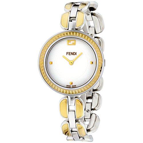 Fendi Stainless Steel Bracelet - Fendi Womens white dial, stainless-steel bracelet watch F351134000XG (Certified Refurbished)