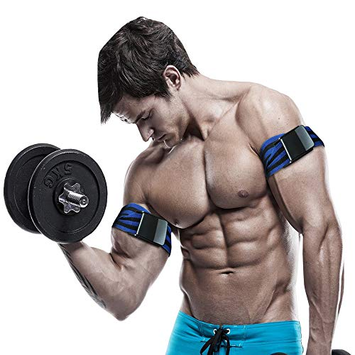 Explopur Biceps Training Bands,1 Pair 2Pcs,Blood Flow Restriction Bands Help Gain Muscle Without Lifting Heavy Weights, Works for Arms or Legs