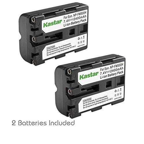 (Kastar NP-FM500H Battery (2-Pack) for Sony DSLR-A100 A200 A300 A350 A450 A500 A550 A560 A580 A700 A850 A900 Alpha SLT A57 A58 A65 A65V A77 A77V A77 II A77M2 A99 A99V CLM-V55 Cameras)