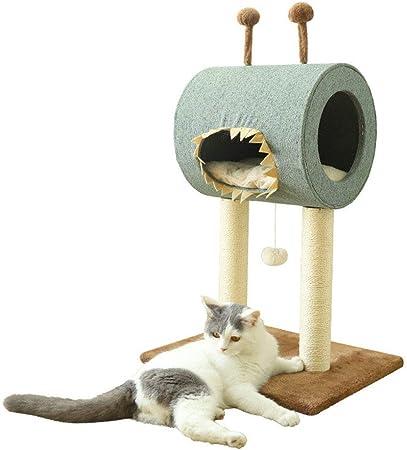 QNMM Árbol del Gato, Poste Rascador para Gatos, Casa del Gato Pequeño Monstruo con Juguetes para Gatos, 49 * 40 * 71 Cm: Amazon.es: Hogar