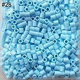 BrawljRORty DIY Toys, 1000Pcs 5mm Perler Beads Colorful Hama Beads DIY Educational Toys Kid Gift