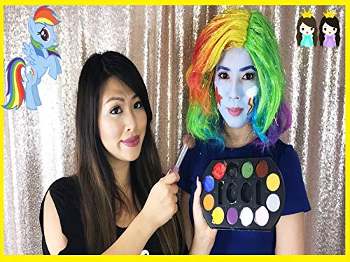 Clip: My Little Pony Costume Makeup Tutorial: Trolls Poppy Makeover with Princess ToysReview -