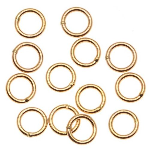 Beadaholique 14K Gold Filled Closed 5mm Jump Rings 20 Gauge (10) ()