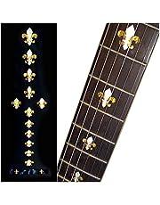Inlaystickers Fret Markers voor gitaren & bas - Fleur de Lys - witte parel, F-028FD-WT