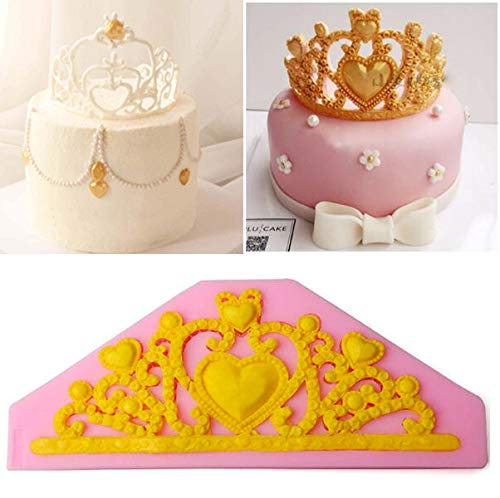 Princess Crown Silicone Fondant Mold Cake Decor Chocolate Baking Tool Mould Voraca 125930-zhe077443