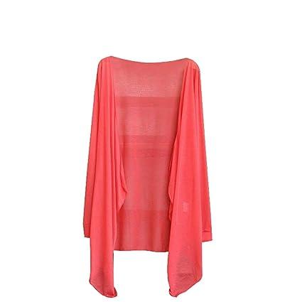 0f2c43cc2e7 Freedi Women UV Sun Protective Clothing Lightweight Skin Coat Long Sleeve  Beachwear Cover Up (Rose) - - Amazon.com