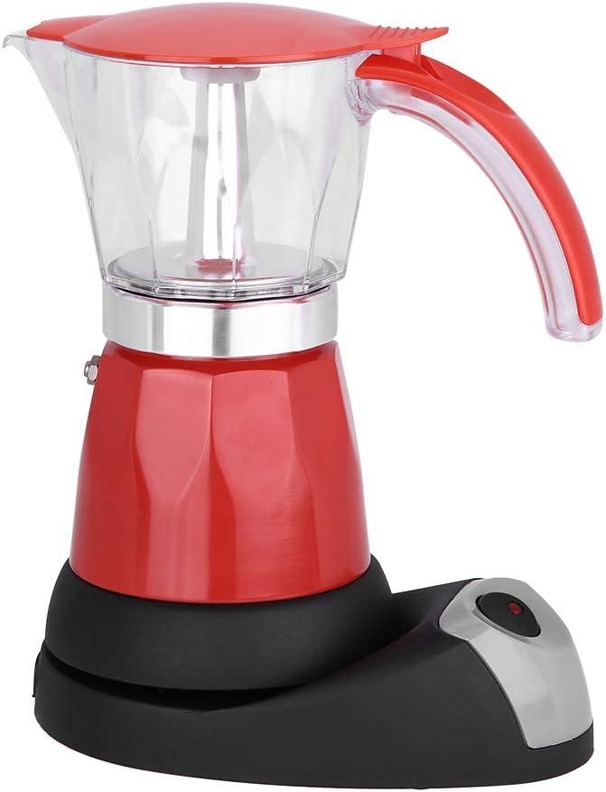 cafetera Desmontable de 300 ml Jimfoty Olla Moka el/éctrica de Alta Resistencia 220-240 V 480 W para el hogar para la Oficina Red