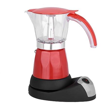 Cafetera eléctrica moka de 480 vatios, 300 ml, 6 tazas ...