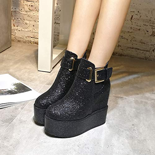 The Heel And Is The Boots Autumn Sponge Single Thick Shoes Proof SFSYDDY Slope The The Super In Cake The High Short Higher Height Winter Shoe Skid The The black single 38 The Sole Heel EfYWUvqO