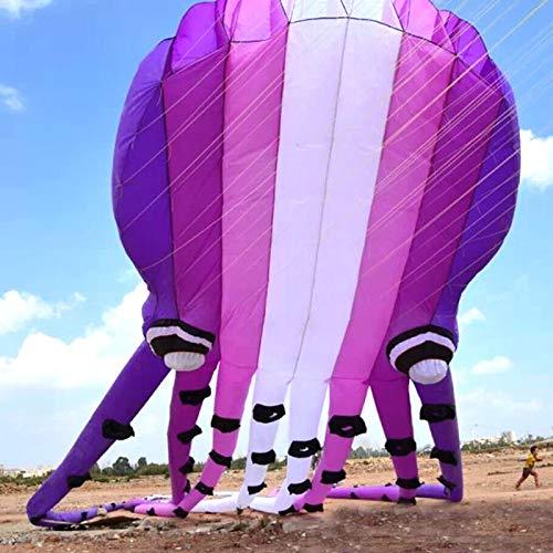 SECVBG Cerf-volantviolet Crystal Octopus Kite Factory Ligne De Cerf-Volant Souple en Nylon Ripstop Walk in Sky Kites pour Adultes 3D Kite