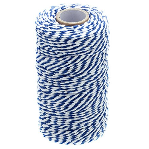 328 Feet Baker's Twine,Cotton Crafts Christmas Holiday Twine,Dark Blue & White (Blue Holiday Craft)