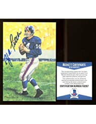 7b822839a Y.A. Tittle Signed Goal Line Art GLAC Autographed NY Giants Beckett BAS - Beckett  Authentication -