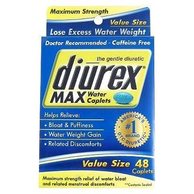ONLY 1 IN PACK Diurex Max The Gentle Diuretic Water Caplets, 48 Caplets
