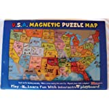 Amazoncom Janod Magnetic USA Map Inches X Inches - Magnetic us map puzzle janod