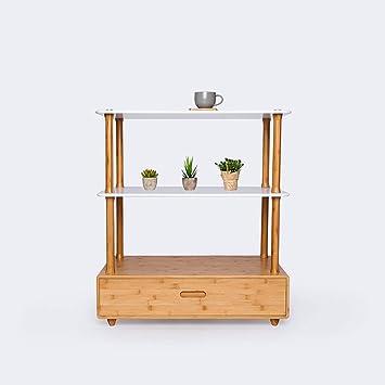 Shelf Die Kreativen Oktober Schubladen Verbinden Sich Mit Bambus