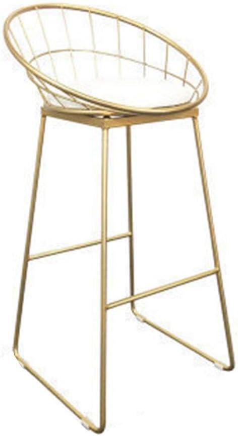 Chaise de Bar ajourée, café en Fer forgé, Chaise de Bar doré