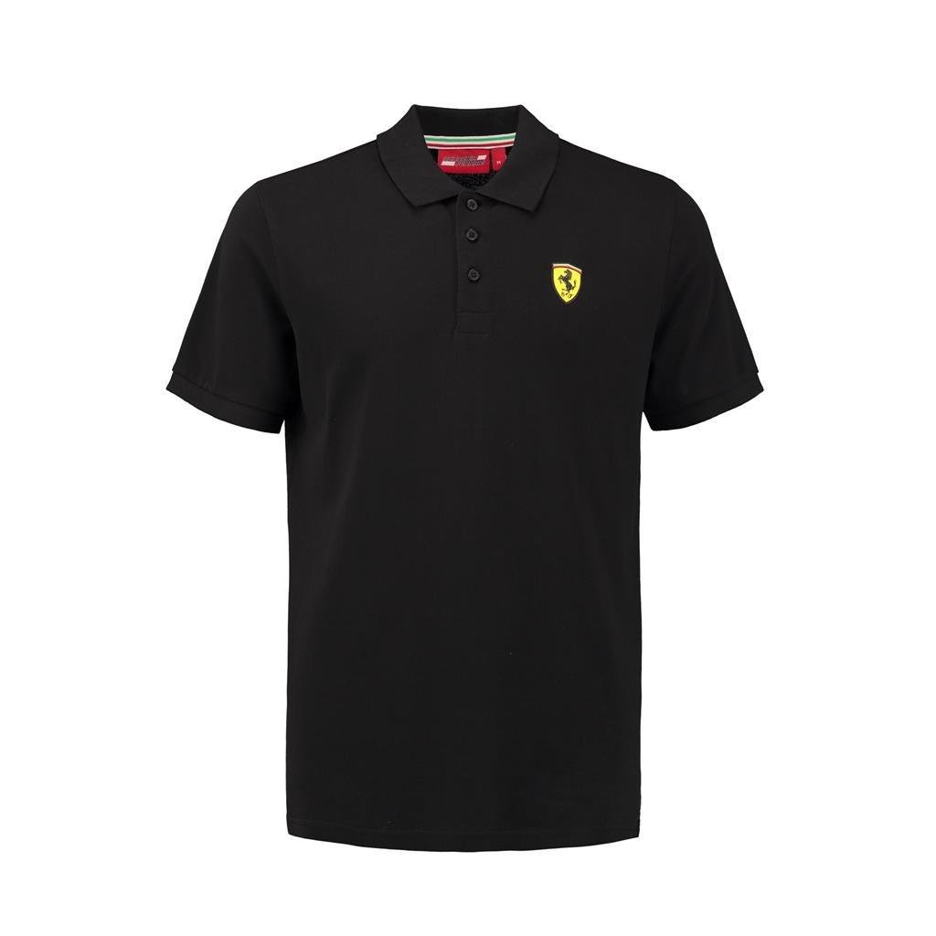 Ferrari Mens Formula 1 Black Authentic Mens Classic Polo