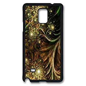 Wild Pattern Custom Back Phone Case for Samsung Galaxy Note 4 PC Material Black -1210284