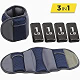 Empower Ankle & Wrist Weights for Women, Soft, Adjustable Weights, Adjustable Strap, Running, Walking, Exercise, Resistance Training, Toning, (1 Pair) 3lb, 5lb, 8lb, 12lb, Navy