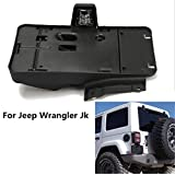 Lantsun America & Canada Black Plastic License Plate Frames Brackets Black Plastic License Plate For Jeep Wrangler JK 2007-2017(J114)