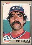 Baseball MLB 1983 Fleer #243 Dennis Lamp White Sox