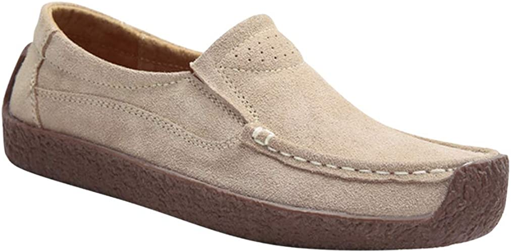 Shoes 3 Colors 1 Pair Casual Suede Flat Moccasins Slip-On Driving Formal Party