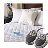 Sunbeam Heated Mattress Pad | Water-Resistant, 10 Heat Settings , White , Queen - MSU6SQS-T000-11A00