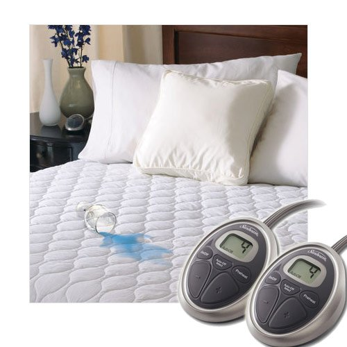 Sunbeam Heated Mattress Pad | Water-Resistant, 10 Heat Settings, King ()